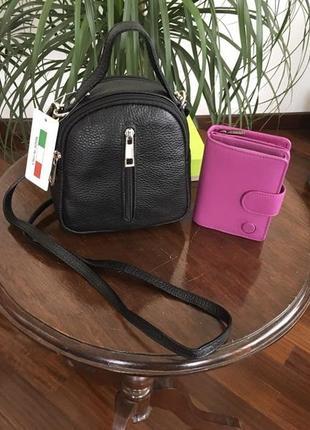 Кроссбоди-сумка на пояс кожаное barbie made in italy