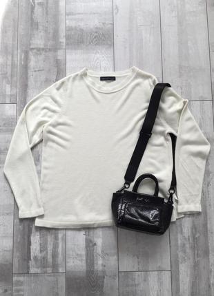 Білий базовий джемпер кофта лонгслив m&s