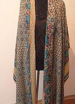 Длинный шикарный палантин-шарф. 100% котон