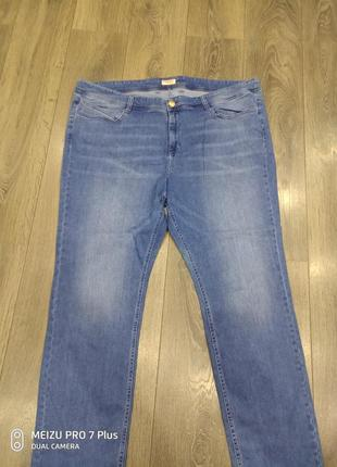 Стильные слегка зауженные стрейчевые джинсы triangle