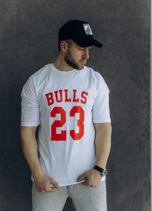 Мужская футболка bulls 23 / молодёжная футболка chicago bulls