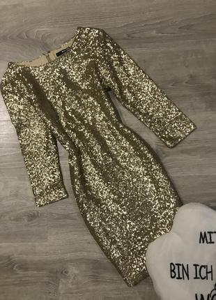 Золотое платье в пайетки