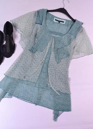 Оригинальная шифоновая блуза betty jackson