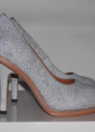 Туфли светлые на каблуке от other stories кожа