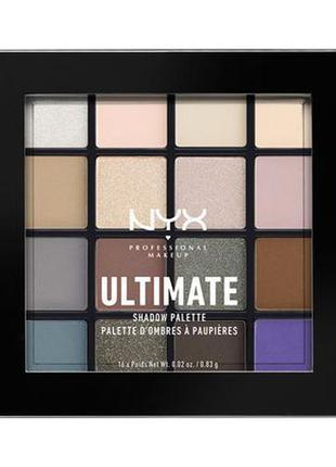 Палитра теней nyx ultimate shadow palette 02 cool neutrals