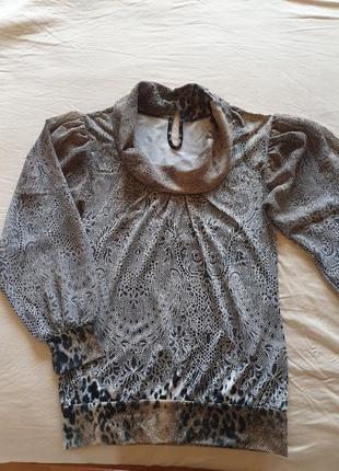 Блуза с шифоновыми широкими рукавами