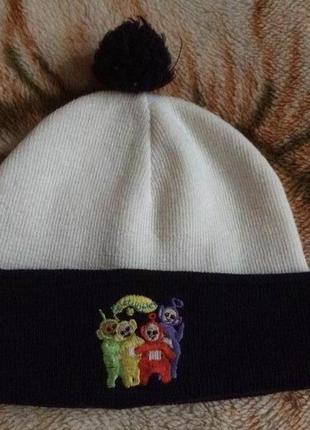 Детская шапочка с вышивкой телепузиков