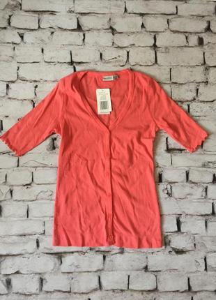 Легкий кардиган з коротким рукавом на гудзиках футболка