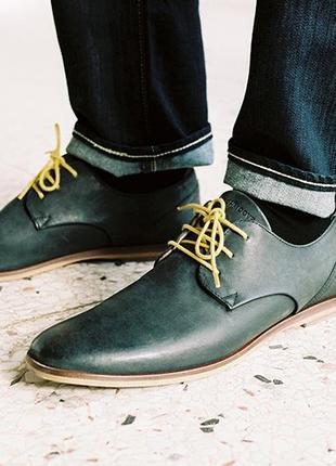 Черные кожаные туфли дерби schmoove
