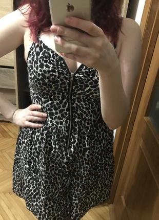 Леопардове літнє плаття hm