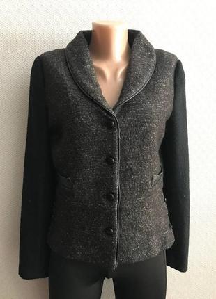 Шерстяной теплый пиджак