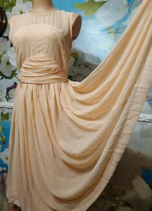 Платье шифоновое летящее с пышной юбочкой12р asos