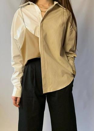 Винтажная рубашка оверсайз, класична сорочка, блуза блузка