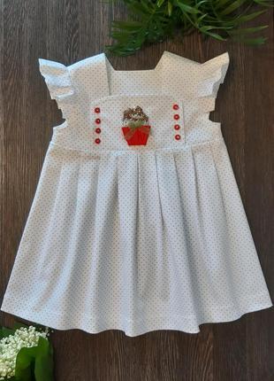 Платье для девочки с аппликацией