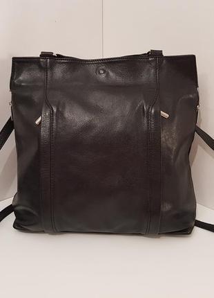 Шикарный кожаный рюкзак трансформер сумка borse in pelle