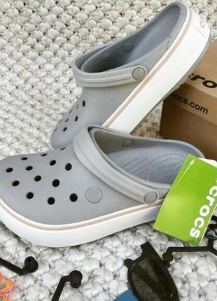 Crocs, кроксы, сабо, женская обувь, crocband platform, шлепанцы