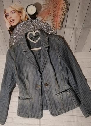Джинсовый пиджак куртка жакет