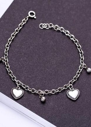 Нереально красивый браслет в винтажном стиле, серебро