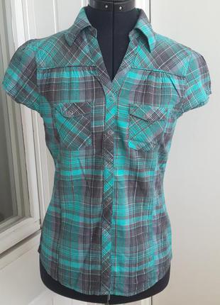 Рубашка в клетку для девочек 100%хлопок от h&m