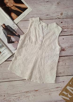Ажурная  хлопковая блуза