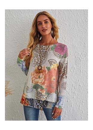 Свитер,пуловер 2в1