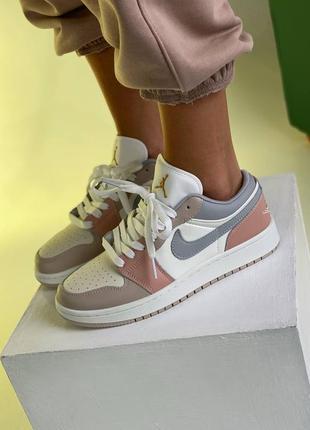 Топовые кроссовки nk aj 1 low beige