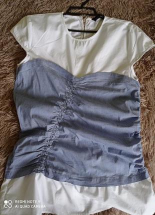 Блузка с имитацией корсета