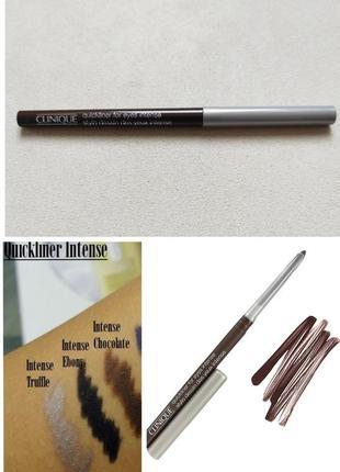 Коричневый карандаш для глаз clinique quickliner for eyes intense