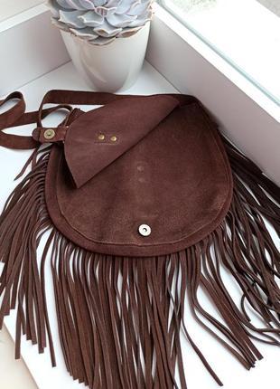 Замшева сумка3 фото