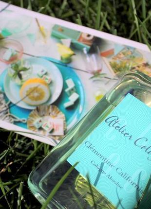 Atelier cologne clementine california original_cologne 7 мл затест