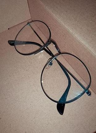 Имидж очки панто прозрачные круглые для имеджа в черной оправе 👀