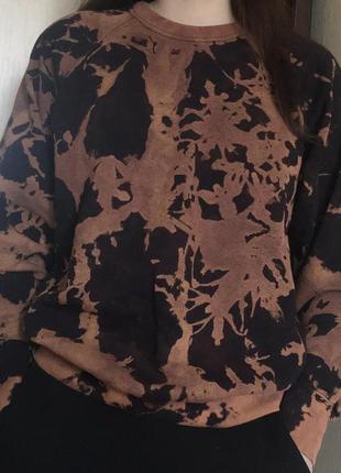 Bleach-dye свитшот