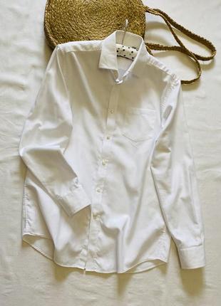 Отличная базовая белая коттоновая рубашка next