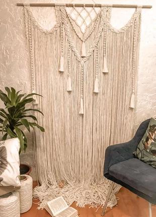 Макраме штора, арка на весілля, фотозона на свадьбу в стиле бохо