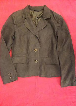 Льняной пиджак на подкладке