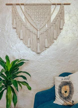 Пано в стилі бохо, арка, штора макраме, фотозона для весілля, свадьба