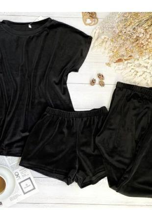 Женская домашняя пижама 3-ка