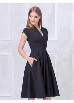 Платье с пышной юбкой черное купить