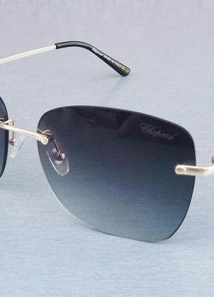 Chooard очки женские солнцезащитные безоправные темно серые с градиентом