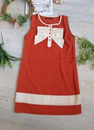 Платье повседневное терракотового цвета , кирпичного цвета свободное