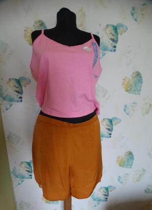 Комплект для дома и сна майка топ шорты primark 52-54 размер