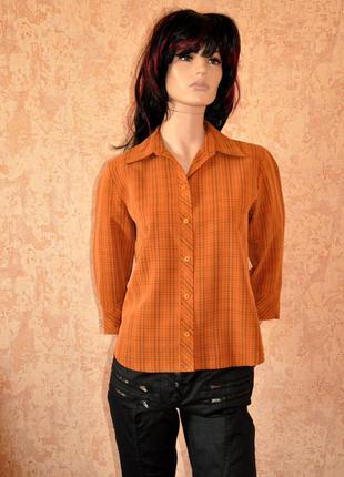 Красивая кирпичная рубашка canda. 38/42 размер. 75% вискоза!