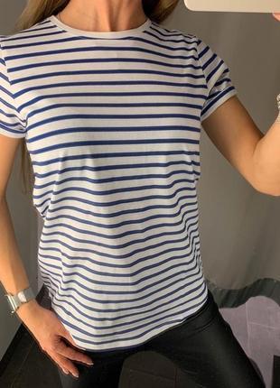 Хлопковая футболка в полоску тельняшка fbsister есть размеры