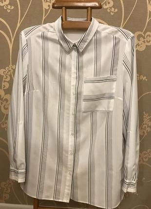 Нереально красивая и стильная блузка в полоску большого размера.