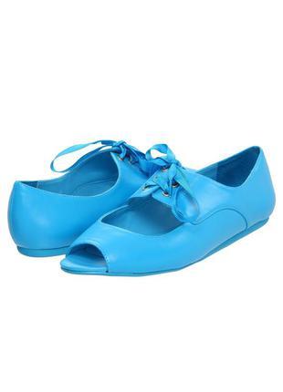 Betsey johnson оригинал яркие голубые летние босоножки балетки бренд р 40 из сша
