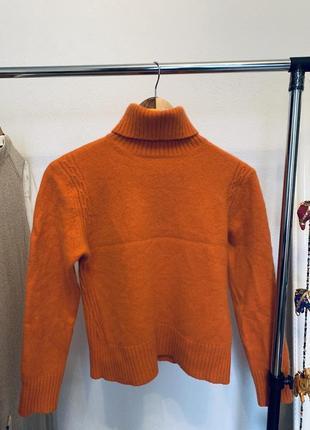 Кашеміровий оранжевий гольф (кофта, светр, водолазка)
