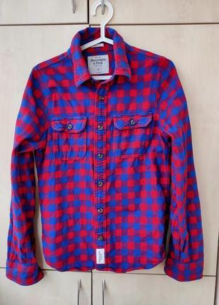 Рубашка фланель abercrombie & fitch