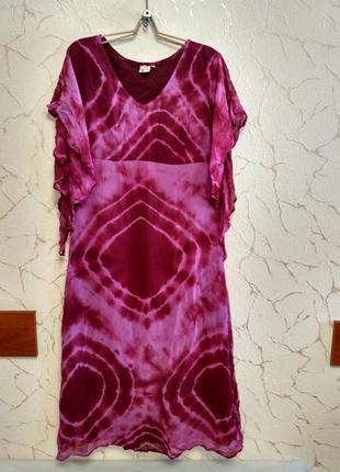Нарядное платье в насыщенных фиолетовых тонах, размер 44