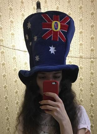 Шлипа цилиндр карнавальная американский флаг для вечеринки