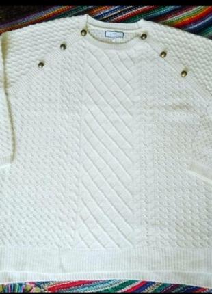 Белый шерстяной свитер next